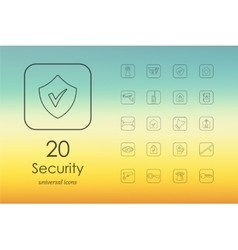 Set of security icons vector