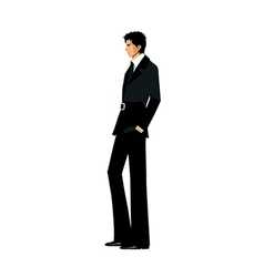 Side view man standing vector
