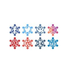 Social icons 5 frozen vector