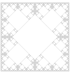 Square sacral geometry fractal background vector