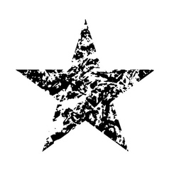 Star icon grunge texture vector