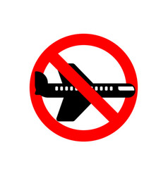 Stop aircraft it is forbidden to fly airliner vector