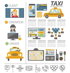 Taxi infographic template Flat design vector image