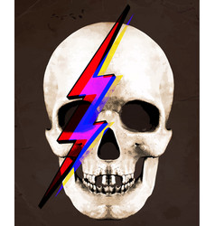 Tee graphic of skull david bowie vector