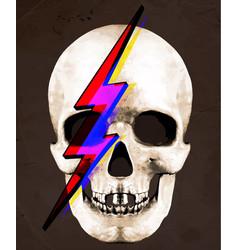 Tee graphic of skull david bowie vector