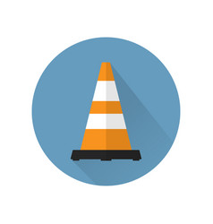 traffic cone in flat style isolated vector image