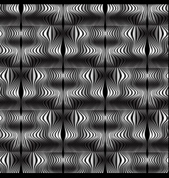 wave lines optical seamless pattern vector image