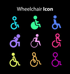 wheelchair icon vector image