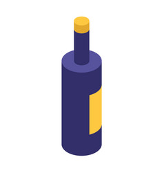 wine bottle icon isometric style vector image