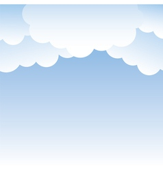 clouds on sky vector image vector image