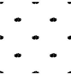 Seamless pattern pair of hearts vector image vector image