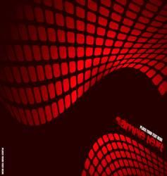 wavy mesh vector image