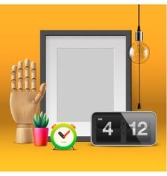 Workspace mock up vector image