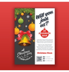 Christmas party invitation template for print vector