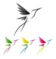 Colored stylized colibri vector image vector image