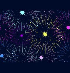 fireworks seamless pattern festive background vector image vector image