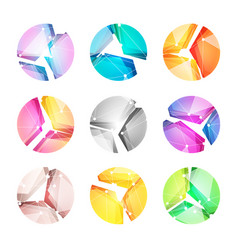 logos set putting together abstract vector image