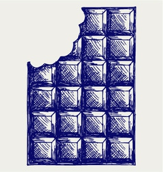 Milk chocolate vector image vector image