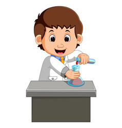 scientist working in the lab vector image