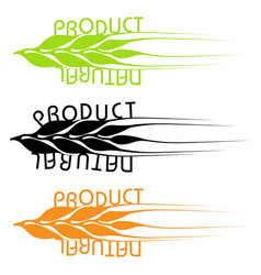 set of emblems of natural products vector image vector image