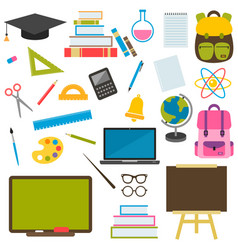 back to school theme icons set vector image
