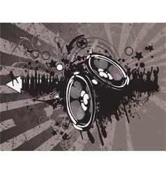 concert wallpaper with speakers vector image