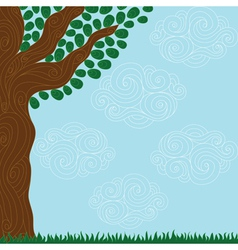 curly tree vector image vector image
