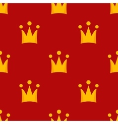 little crowns royal seamless pattern vector image