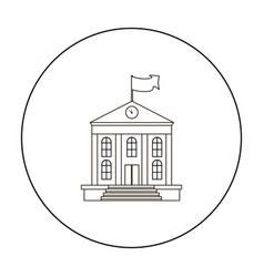 school icon outline single education icon from vector image