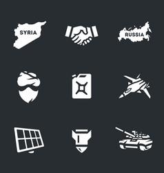 set of antiterrorist operation icons vector image