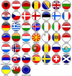 shiny flags vector image vector image