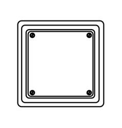 Silhouette square shape traffic sign icon vector