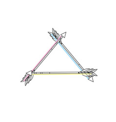 cute arrows element with ornamental design vector image vector image