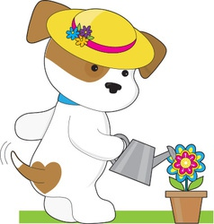 Cute Puppy Plant vector image