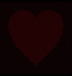 heart shaped pattern background design from red vector image vector image