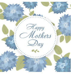 lettering happy mothers day hand-drawn card with vector image