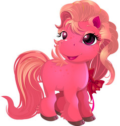 Little beautiful pony vector