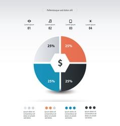 pie chart infographics template design vector image