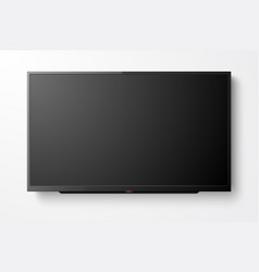 3d realistic black blank tv screen modern vector image
