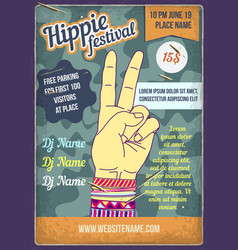 a hippies hand with bracelets vector image