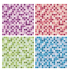 Abstract mosaic tile backgrounds vector