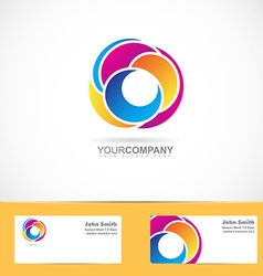 Abstract shapes corporate logo vector