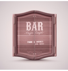 Bar Doors vector image