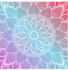 Beautiful colorful mandala floral background vector