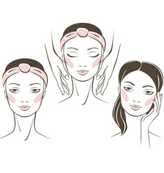 Beauty treatment in spa salon concept vector