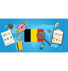 belgium economy economic condition country with vector image