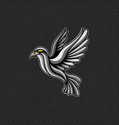 bird logo design template head icon vector image