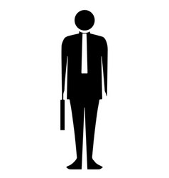 Black silhouette bussinesman vector