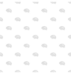 Brain icon seamless pattern vector image