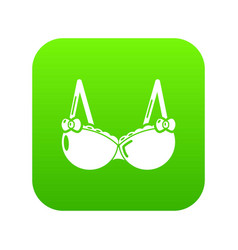 Brassiere wear icon simple black style vector